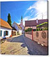 Colorful Street Of Baroque Town Varazdin View Canvas Print