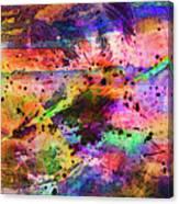 Colorful Sunset Debris  Canvas Print