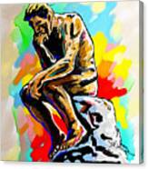 Colorful Thinker Canvas Print