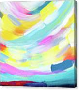 Colorful Uprising 4 - Abstract Art By Linda Woods Canvas Print