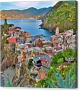 Colorful Vernazza From Behind Canvas Print