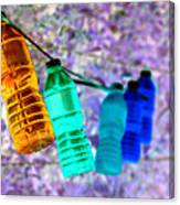 Colorful Water Bottles Canvas Print