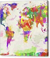 Colorful watercolor world map digital art by zaira dzhaubaeva colorful watercolor world map canvas print gumiabroncs Gallery