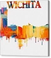 Colorful Wichita Skyline Silhouette Canvas Print