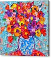 Colorful Wildflowers - Abstract Floral Art By Ana Maria Edulescu Canvas Print