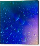 Colorfull Water Drop Background Abstract Canvas Print