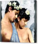 Colorized Edoardo And Vincenzo Galdi By Pluschow Canvas Print