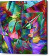 Colors And Geometries For A Violin  Canvas Print