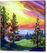 Colors In The Sky Canvas Print