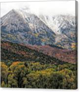 Colors Of Autumn On Mcclure Pass Canvas Print
