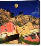 Colors Of Liguria Houses - Facciate Case Colori Di Liguria 3 Canvas Print