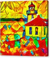 Colors Of Lime Kiln Lighthouse Canvas Print