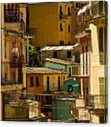 Colors Of Manarola Italy Canvas Print