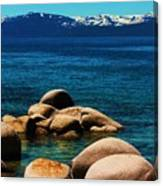 Colors Of Sand Harbor Canvas Print