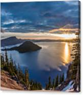 Colors Of The Spring Morning At Discovery Point Canvas Print