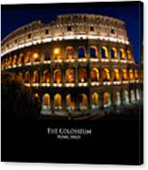 Colosseum At Night Canvas Print