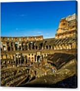Colosseum In Rome Interior Canvas Print