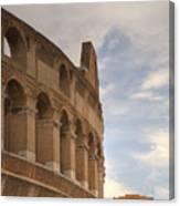 Colosseum In The Historic Centre Of Rome Canvas Print
