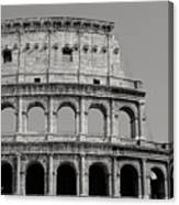 Colosseum Or Coliseum Black And White Canvas Print
