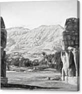 Colossi Of Memnon 2 Canvas Print