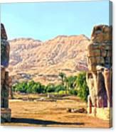 Colossi Of Memnon Canvas Print