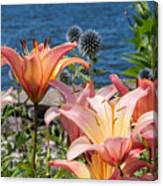 Colour At The Lake Canvas Print