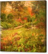Colour Explosion In The Japanese Gardens Canvas Print