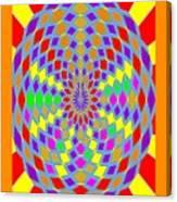 Coloured Ovals Canvas Print