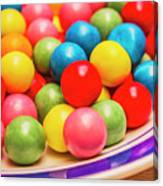 Colourful Bubblegum Candy Balls Canvas Print