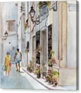Colourful Corner In Spain Canvas Print