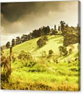 Colourful Fields And Farmyards Canvas Print