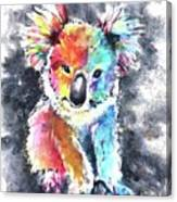 Colourful Koala Canvas Print