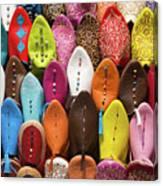 Colourful Morroccan Slipper Canvas Print