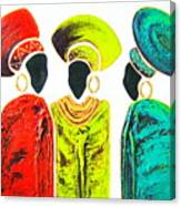 Colourful Trio - Original Artwork Canvas Print