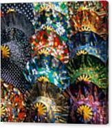 Colourful Umbrellas Bangkok Thailand Canvas Print
