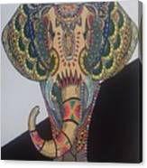 Colours In An Elephant Canvas Print