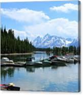 Colter Bay On Jackson Lake  Canvas Print