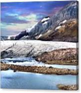 Columbia Ice Field And Athabaska Glacier Canvas Print