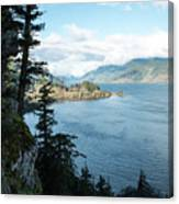 Columbia River Cliffside Canvas Print