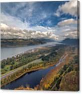 Columbia River Gorge In Autumn Canvas Print