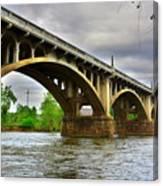 Columbia S C Gervais Street Bridge Canvas Print