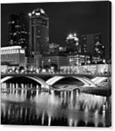 Columbus Black Night Canvas Print