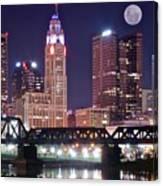Columbus By Moonlight Canvas Print