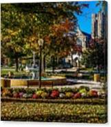 Columbus Day In The Park Canvas Print
