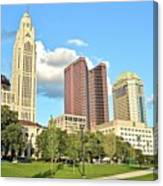 Columbus From The Park Canvas Print