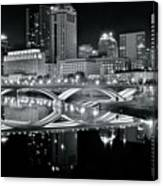 Columbus Ohio Black And White Canvas Print