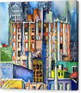 Columbus Ohio City Lights Canvas Print