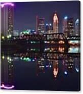 Columbus Ohio Reflecting Nicely Canvas Print