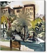 Columbus Park Bayshore Tampa Canvas Print