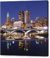 Columbus Skyline Reflection Canvas Print